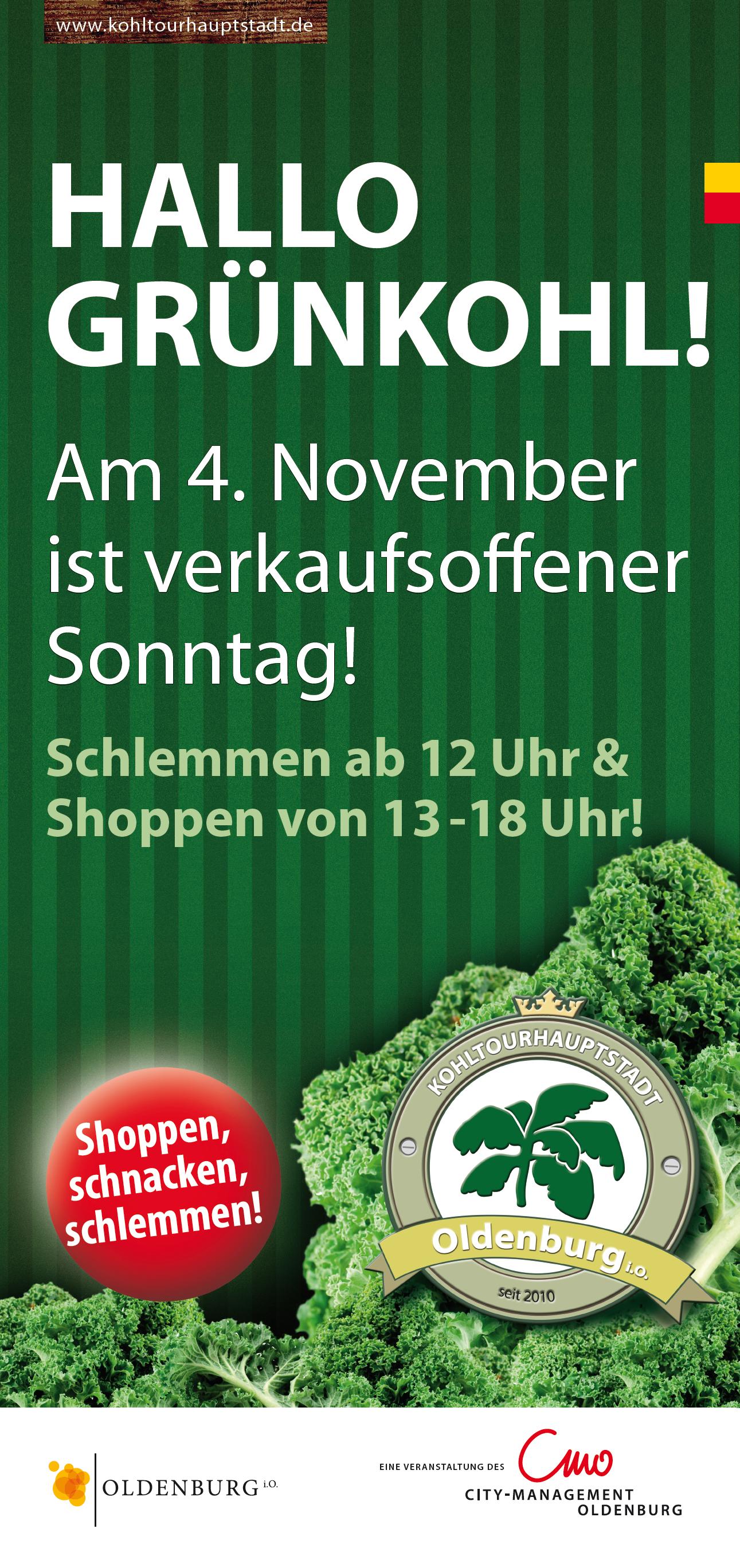 Plakat Grünkohlsonntag 2018